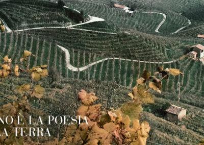 Panoramica vigneti di Bottignolo Valdobbiadene Treviso